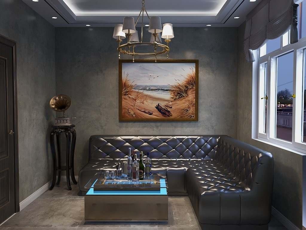 包厢暗色古典设计,深色皮质沙发搭配做旧留声机,浪漫中现代气息弥漫,欧式风格突出