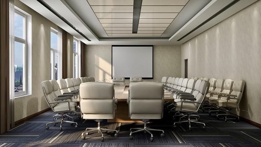 """会议室现代中式风格家具一般颜色沉敛深厚、文化品位浓郁。就搭配来说,现代中式风格家具将中国传统元素和现代设计""""自由搭配"""",成为现代家居设计和装饰的一种新思路,更引导了一种与众不同的审美思想。"""