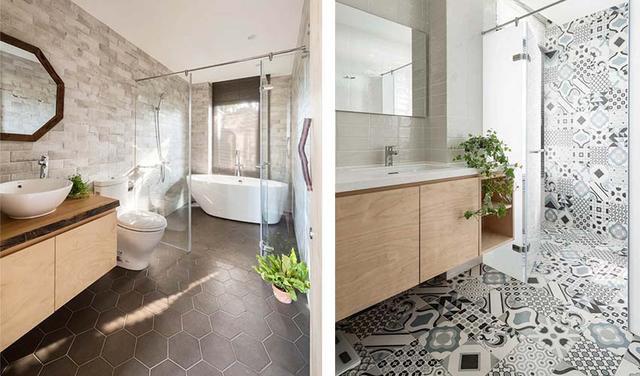 卫生间相对其他空间而言,显得比较花哨一些。铁道砖、六角砖、花砖的使用丰富空间,透过材质的交替,创造原始与设计交融的样貌。通透的玻璃门隔断,实现干湿分离的同时又改善视觉空间不显拥挤。看完住宅皇冠感觉很赞,四周舒适宜人的景物,室内简洁自然的设计与之相呼应,大面积落地窗提供良好的采光与开阔视野,生活惬意舒适,越住越上瘾啊!