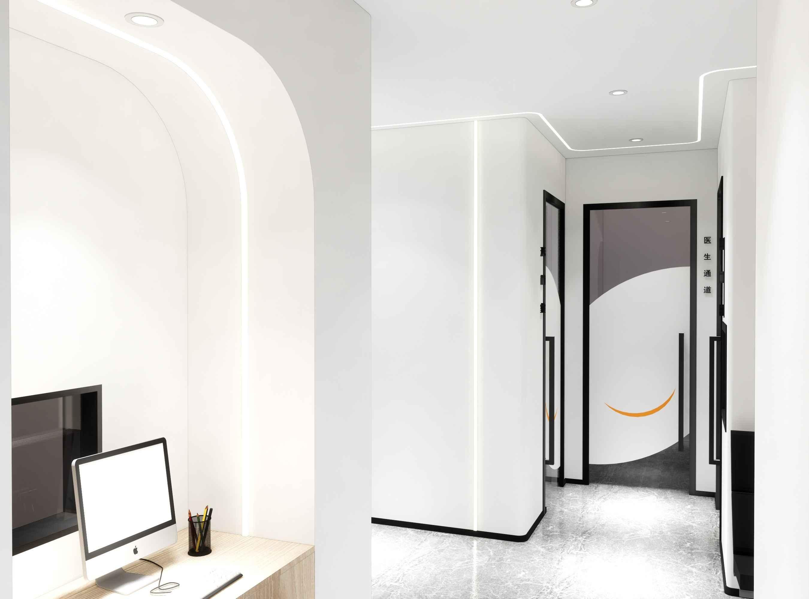 白色为主的设计,能使屋内环境显得干净简洁,白色高端,不仅要定位风格和档次,还要表现出诊所独特的个性,突出诊所的专业特诊和文化氛围,做出自己的特色,有属于自己的风格。