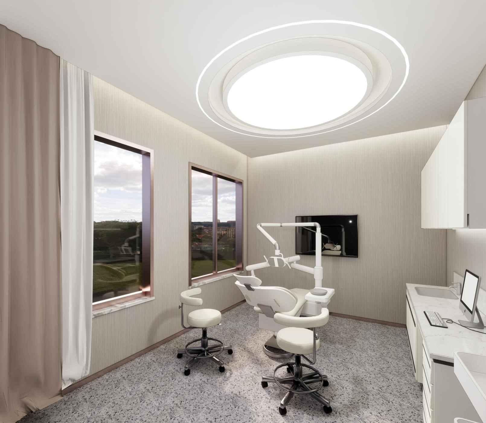 根据医疗空间的结构特点,对材料的颜色和质地进行精心的设计,既体现