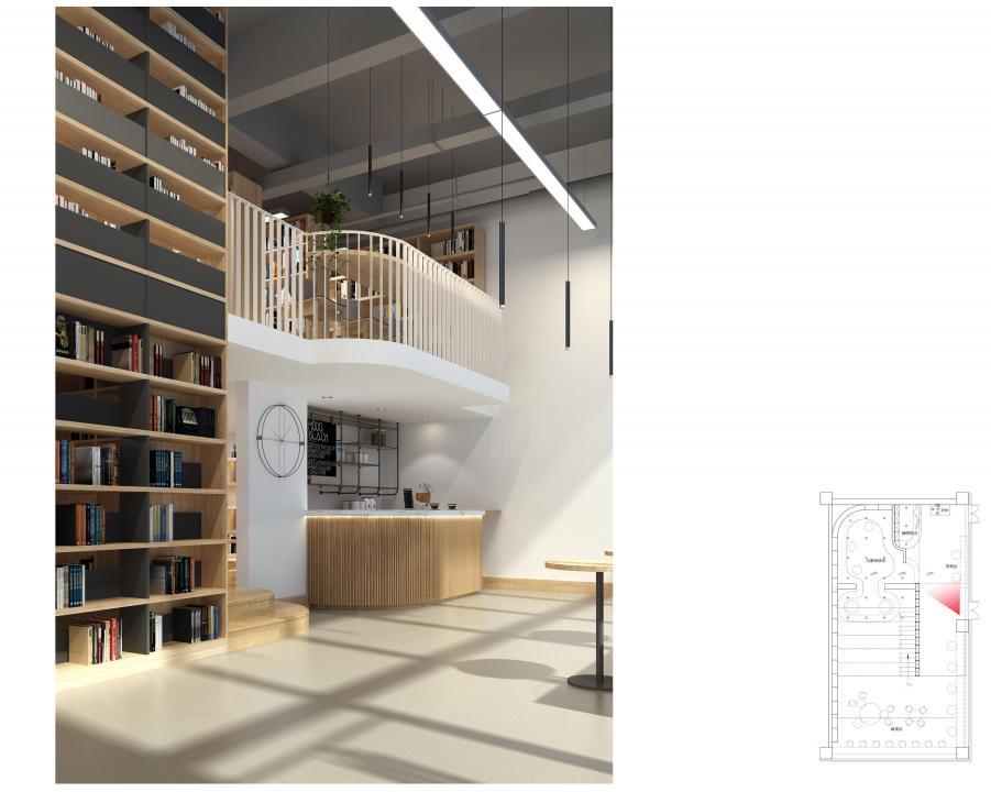 自助书店的整体空间主要分为4个区域:以书籍选购为主的书籍陈列区、儿童读物专区、创意文具和礼品区、阅读休息区。