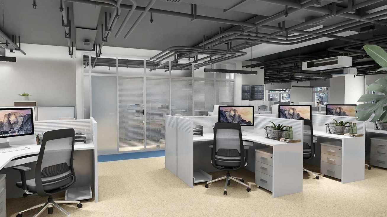 简约的风格,简单而有品位,色调冷暖结合。办公环境的风格取向、舒适与否对于提升员工的工作效率和体现企业文化起到至关重要的作用。办公室整体色调采用蓝白黑调,使员工办公的心情能够沉静下来,工作效率自然可以得到提高。