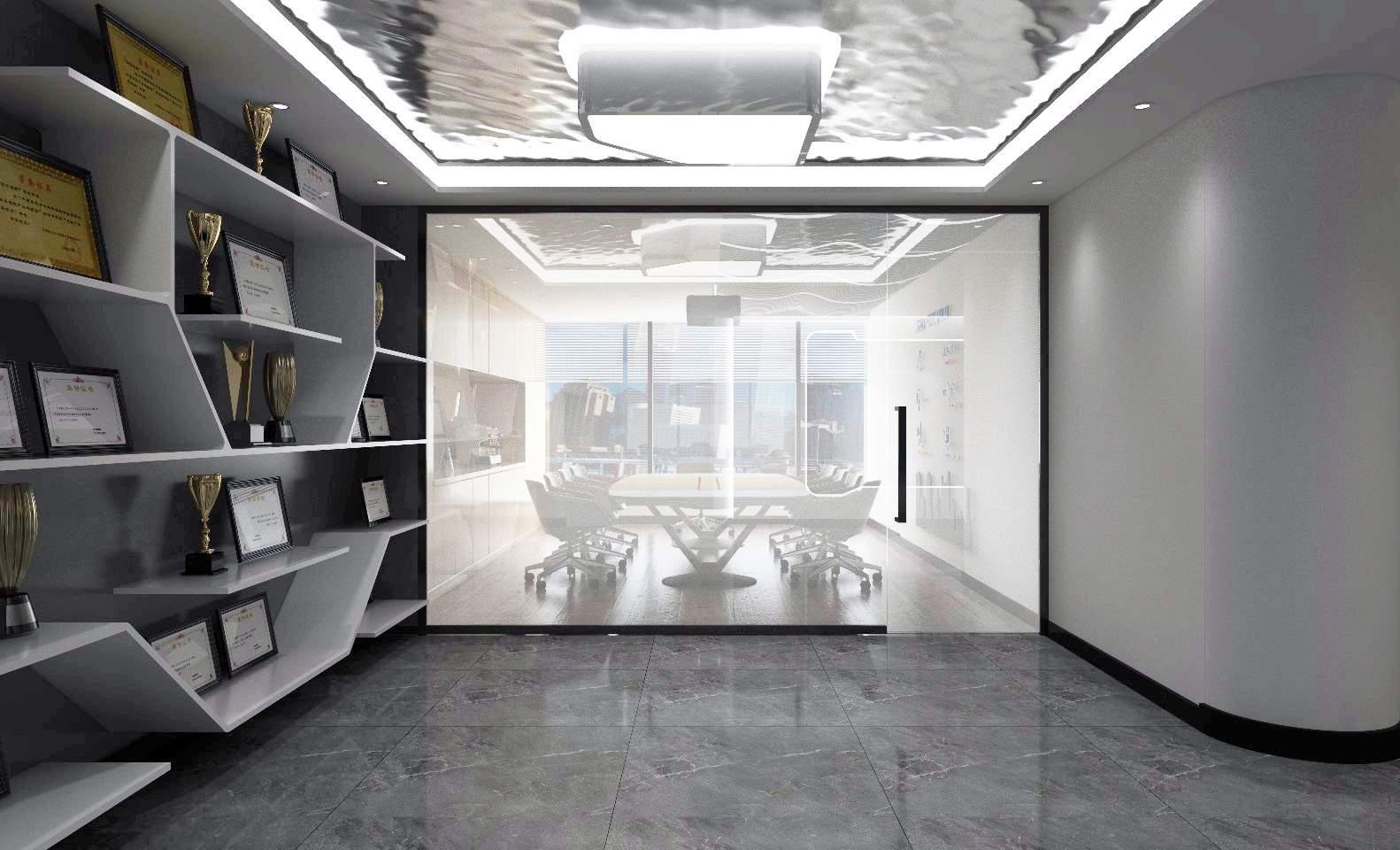 会议室是一个为大家提供工作交流和与客户谈判的地方,一个好的会议室设计不仅可以达到在工作交流时烘托出好的气氛,也可以为你在与客户谈判的时候增加你公司的形象,也是一个公司的代表。现代风格会议室采用个性化装饰,公司的视觉效果不再刻板而是让人感到非常放松。办公室皇冠可以运用强烈的色彩对比突出个性化,同时适当融入公司文化。公司的家具造型也不再拘泥于传统式样,更像是一件件艺术品让人眼前一亮。