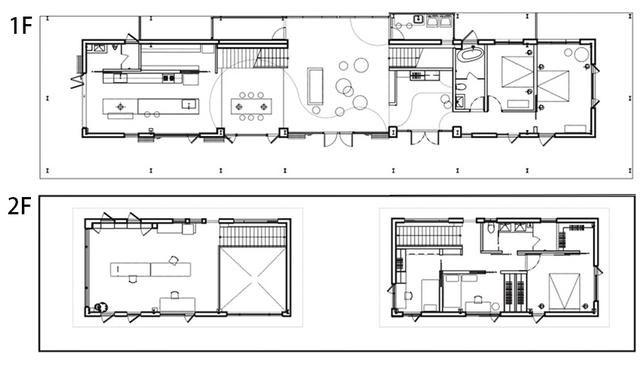 装修布置图,常住人口两大两小,屋主装修诉求不高,倾向自然的装修风格,希望拥有独立的办公空间。上下两层结构,很好的分配了生活起居空间。